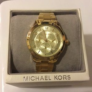 Michael Kors Runway gold tone watch
